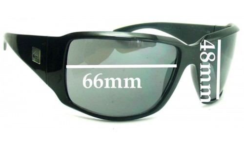 Quiksilver The Don Smaller Version Replacement Sunglass Lenses - 66mm Wide
