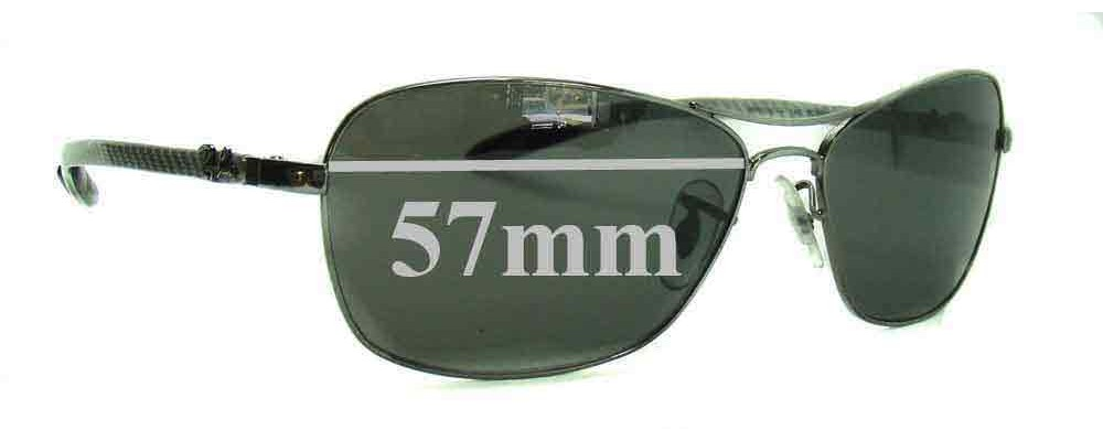 Ray Ban RAM4267AA Replacement Sunglass Lenses - 57mm wide