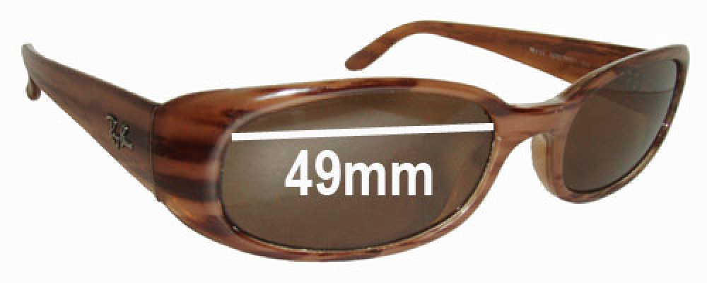 Ray Ban Sidestreet RB2123 Replacement Sunglass Lenses - 49mm wide