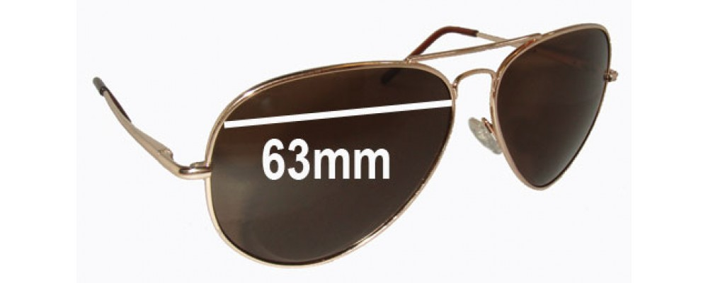 Ray Ban RB2510 Replacement Sunglass Lenses - 63mm wide