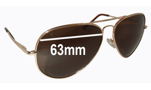 Sunglass Fix Replacement Lenses for Ray Ban RB2510 - 63mm wide