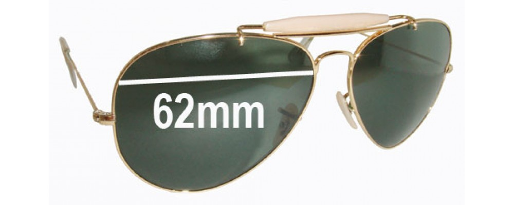 Ray Ban RB3029 Replacement Sunglass Lenses - 62mm wide