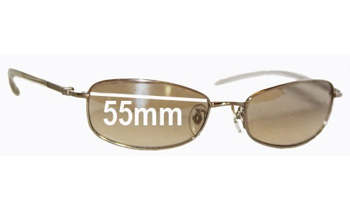 Ray Ban RB3231 Replacement Sunglass Lenses - 55mm wide lenses
