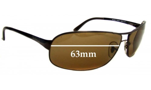 Sunglass Fix Replacement Lenses for Ray Ban Sidestreet RB3343 - 63mm Wide