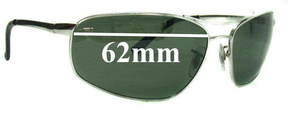 Ray Ban RB3360 Replacement Sunglass Lenses 62mm wide