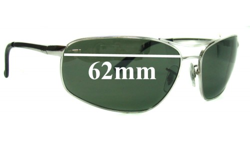 Sunglass Fix Replacement Lenses for Ray Ban RB3360 62mm wide