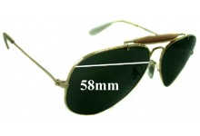 Ray Ban 3407 Aviator Replacement Sunglass Lenses RB3407 - 58mm wide