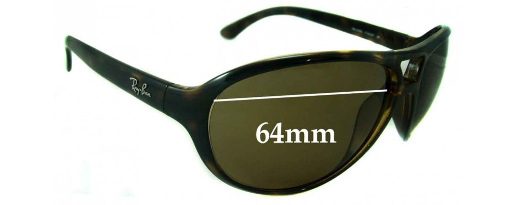 Ray Ban RB4090 Replacement Sunglass Lenses - 64mm wide