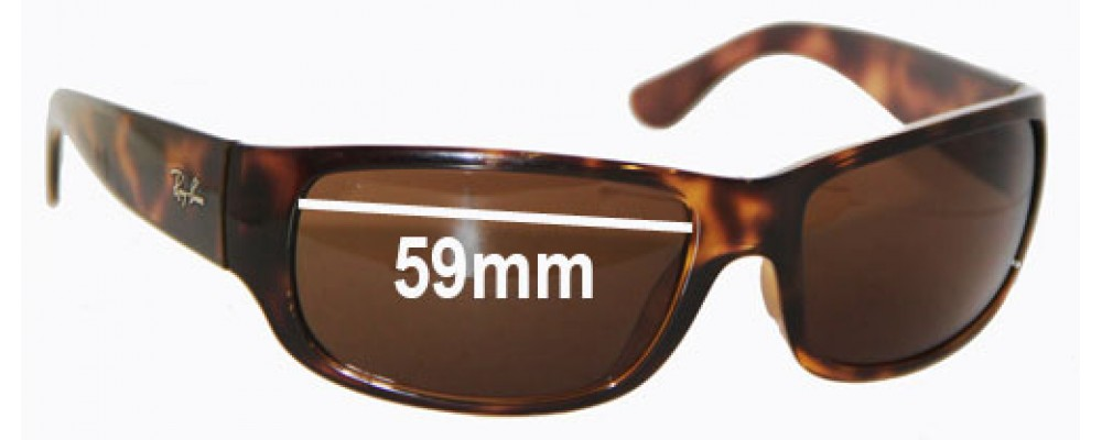 Ray Ban RB4095 Replacement Sunglass Lenses -  59mm wide
