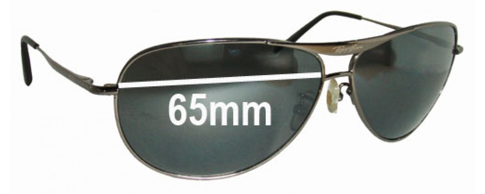 Ray Ban RB8015 Replacement Sunglass Lenses- 65mm wide