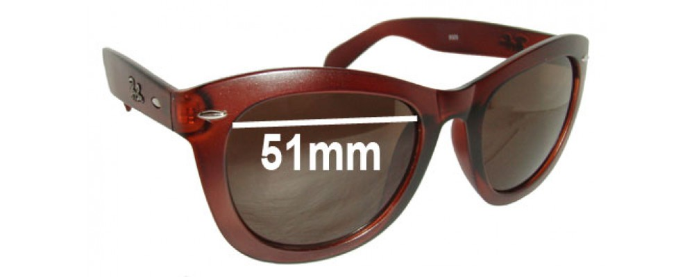 Ray Ban RB9325 Replacement Sunglass Lenses - 51mm wide
