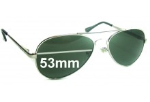 Ray Ban Aviators LH8923G Replacement Sunglass Lenses - 53mm Wide