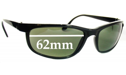 Sunglass Fix Replacement Lenses for Ray Ban W1847 Bausch Lomb - 62mm Wide