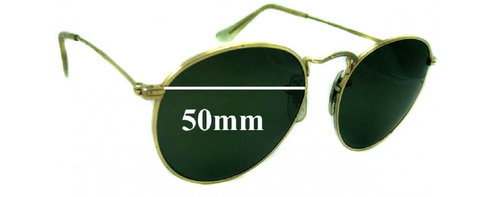 Sunglass Fix Replacement Lenses for Ray Ban John Lennon Bausch Lomb - 50mm wide