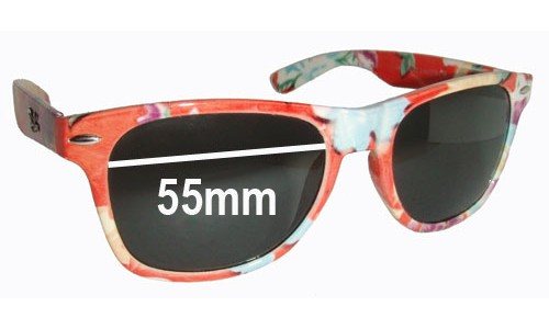 Ray Ban F652 Replacement Sunglass Lenses - 55mm wide