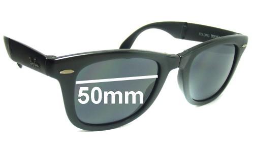 Sunglass Fix Replacement Lenses for Ray Ban Folding Wayfarer Bausch Lomb (W0670) - 50mm wide