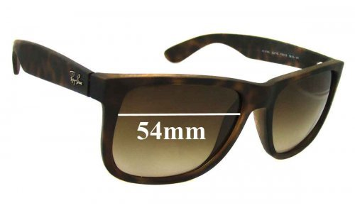 Ray Ban RB4165 Justin Replacement Sunglass Lenses - 54mm wide