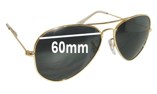 Ray Ban RB1103 Replacement Sunglass Lenses - 60mm wide