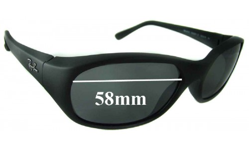 Ray Ban RB2016 Daddy-O 58mm New Sunglass Lenses