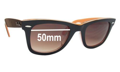 Ray Ban RB2140-A Wayfarer Replacement Sunglass Lenses - 50mm wide lenses