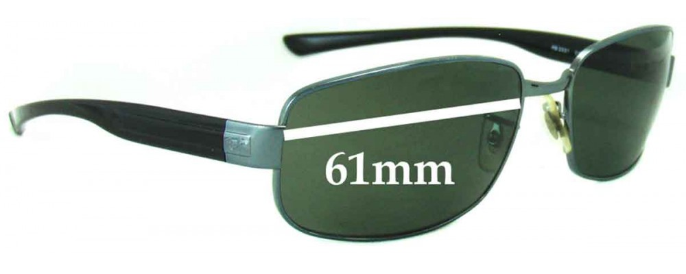 Ray Ban RB3331 Replacement Sunglass Lenses - 61mm wide