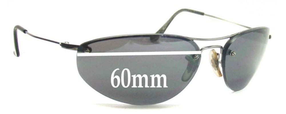 Ray Ban RB3155 Replacement Sunglass Lenses - 60mm Wide  (not 57mm)
