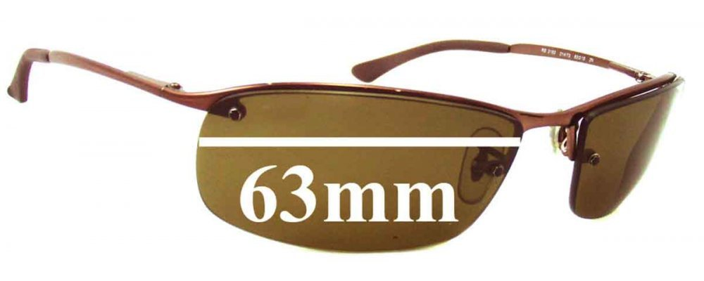 fb41abc8e5e Ray Ban RB3183 Top Bar Replacement Sunglass Lenses - 63mm Wide
