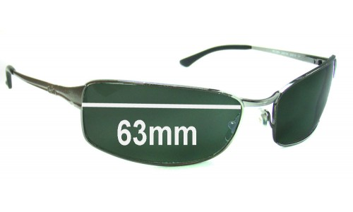 Ray Ban RB3269 63mm Replacement Sunglass Lenses