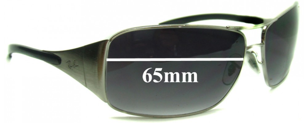 Ray Ban Highstreet Aviator Replacement Sunglass Lenses RB3320 041-71 and RB3320 3320 042-8Z - 65mm wide