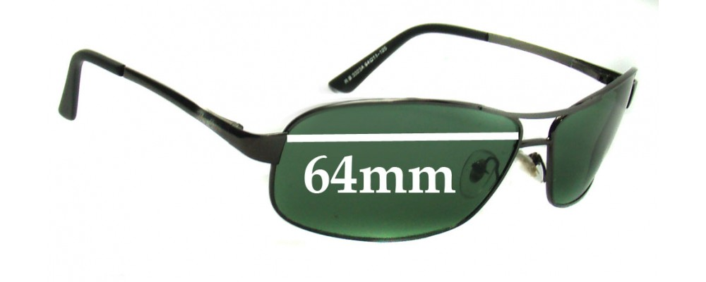 Ray Ban RB3323A and RB3323 Replacement Sunglass Lenses - 64mm Wide