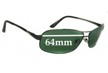 7618ca12825 Sunglass Fix Replacement Lenses for Ray Ban RB3323A and RB3323 - 64mm Wide