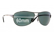 Ray Ban Warrior RB3342 Replacement Sunglass Lenses - 60mm wide