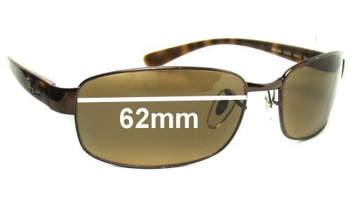 Ray Ban RB3364 Replacement Sunglass Lenses - 62mm wide