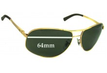 Ray Ban RB3387 Replacement Sunglass Lenses - 64mm wide