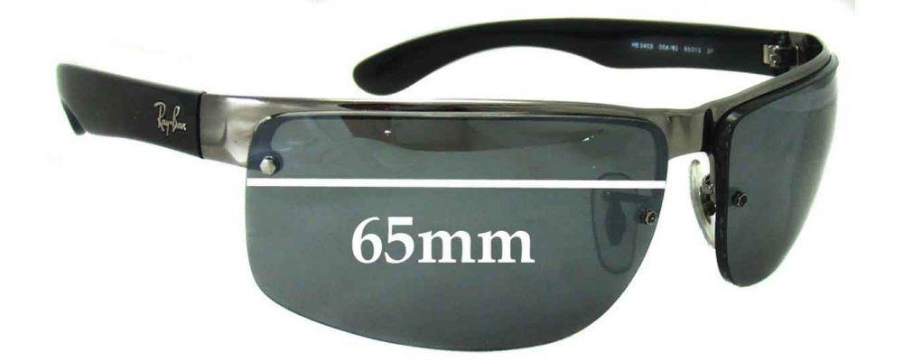 Ray Ban RB3403 Replacement Sunglass Lenses - 65mm across