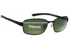 Ray Ban RB3413 Replacement Sunglass Lenses - 59mm Wide
