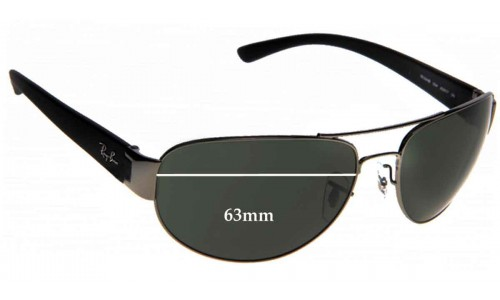 Ray Ban RB3448 Replacement Sunglass Lenses - 63mm Wide