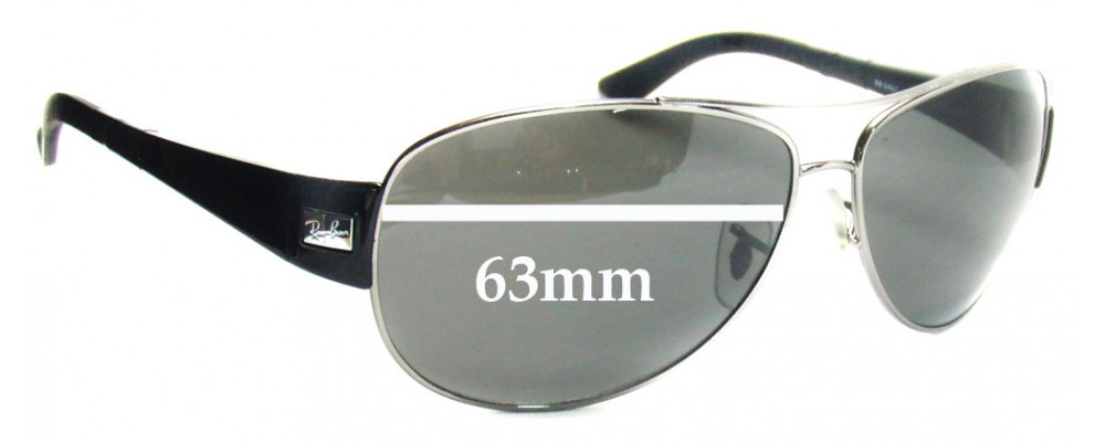 f95c63bb28fe Sunglass Fix Replacement Lenses for Ray Ban RB3467 - 63mm across