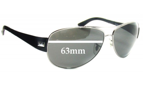 Sunglass Fix Replacement Lenses for Ray Ban RB3467 - 63mm Wide