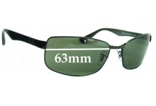 Ray Ban RB3478 Replacement Sunglass Lenses - 63mm Wide