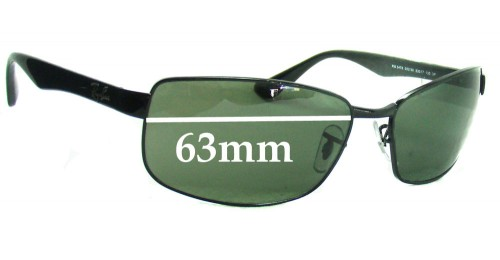 rb3478  Ray Ban RB3478 Replacement Sunglass Lenses - 63mm Wide