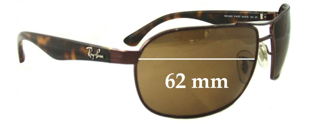 ray ban sunglasses glass replacement  ray ban rb3492 replacement sunglass lenses 62mm wide