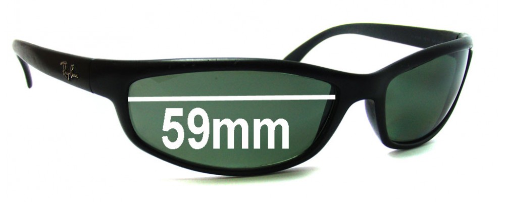 Ray Ban RB4030 Replacement Sunglass Lenses -  59mm Wide