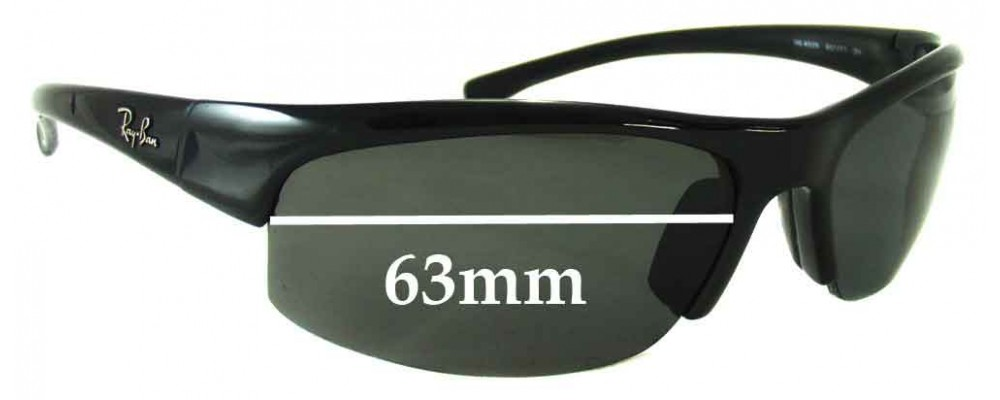 0a198956e48 Ray Ban RB4039 Replacement Sunglass Lenses - 63mm Wide