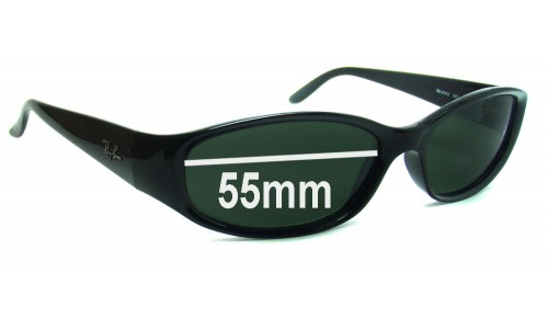 Ray Ban RB4043 Replacement Sunglass Lenses - 55mm wide