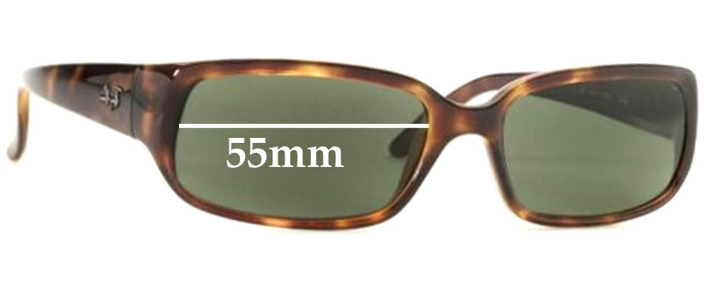 Ray Ban RB4055 Replacement Sunglass Lenses - 55mm wide