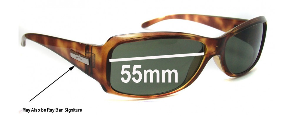 Ray Ban RB4058 Replacement Sunglass Lenses - 55mm wide x 33mm high