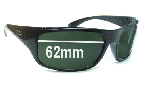 Ray Ban RB4092 Replacement Sunglass Lenses - 62mm wide