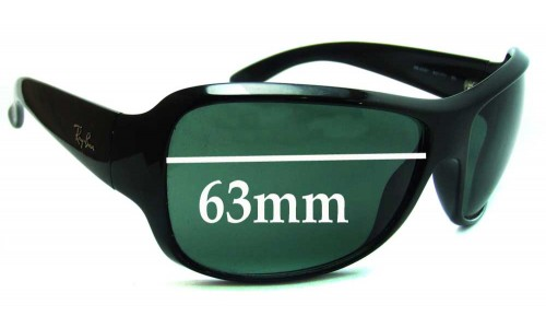 Ray Ban RB4097 Replacement Sunglass Lenses - 63mm wide