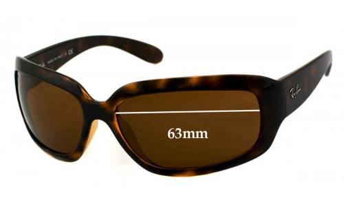Ray Ban RB4102 Replacement Sunglass Lenses - 63MM across